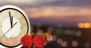 Año Nuevo de la Navidad y fondo de las vacaciones de la tarjeta del día de San Valentín Imagen de archivo libre de regalías