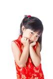 Año Nuevo de la niña china feliz Imagen de archivo