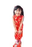 Año Nuevo de la niña china feliz Imagen de archivo libre de regalías