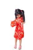 Año Nuevo de la niña china feliz Fotos de archivo