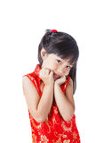 Año Nuevo de la niña china feliz Fotos de archivo libres de regalías