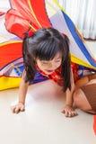 Año Nuevo de la niña china feliz Fotografía de archivo