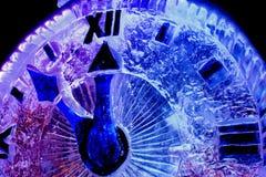 Año Nuevo de la nieve del reloj Foto de archivo libre de regalías