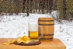 Año Nuevo de la nueva cerveza feliz Imagen de archivo