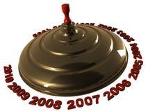 Año Nuevo de la perinola Imagen de archivo libre de regalías