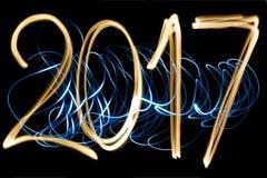 Año Nuevo 2017 de la pintura ligera Foto de archivo