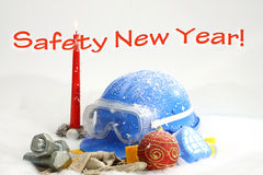 Año Nuevo de la seguridad Imagenes de archivo