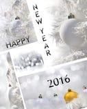 Año Nuevo 2016 de la tarjeta de felicitación Foto de archivo
