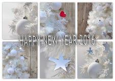 Año Nuevo 2016 de la tarjeta de felicitación Fotos de archivo