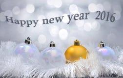 Año Nuevo 2016 de la tarjeta de felicitaciones Imagenes de archivo