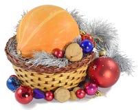 Año Nuevo de las decoraciones de la calabaza Foto de archivo libre de regalías