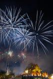 Año Nuevo 2015 de los fuegos artificiales Foto de archivo