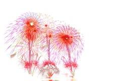 Año Nuevo 2017 de los fuegos artificiales - fuego artificial colorido hermoso aislado Fotos de archivo libres de regalías
