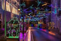 Año Nuevo de Moscú Foto de archivo libre de regalías