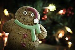 Año Nuevo de Navidad del pan de jengibre Fotografía de archivo