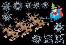 Año Nuevo de Santa ilustración del vector