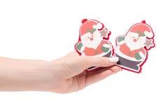 Año Nuevo de santa del juguete del árbol de navidad de la decoración de la Navidad Foto de archivo