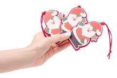 Año Nuevo de santa del juguete del árbol de navidad de la decoración de la Navidad Imagenes de archivo