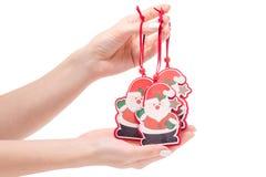 Año Nuevo de santa del juguete del árbol de navidad de la decoración de la Navidad Imagen de archivo libre de regalías