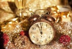 Año Nuevo de Silvester poco antes Imagen de archivo libre de regalías