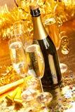 Año Nuevo - decoración del partido Imagen de archivo libre de regalías