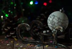 Año Nuevo Decoraciones de la Navidad celebración Fotos de archivo libres de regalías