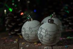 Año Nuevo Decoraciones de la Navidad celebración Imagen de archivo libre de regalías