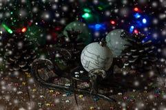 Año Nuevo Decoraciones de la Navidad celebración Imágenes de archivo libres de regalías