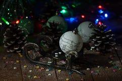 Año Nuevo Decoraciones de la Navidad celebración Foto de archivo libre de regalías