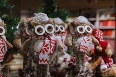 Año Nuevo, decoraciones de la Navidad en la tienda Año Nuevo 2019 imagen de archivo