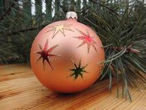 Año Nuevo Decoraciones de la Navidad vendimia antigüedades Fotografía de archivo libre de regalías