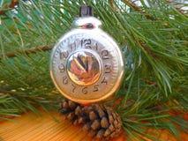 Año Nuevo Decoraciones de la Navidad vendimia antigüedades Imagen de archivo