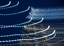 Año Nuevo del árbol de navidad, rastros de luz, días de fiesta, abstracción imágenes de archivo libres de regalías