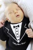 Año Nuevo del bebé agradable Foto de archivo libre de regalías