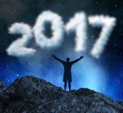 Año Nuevo 2017 del concepto Fotografía de archivo libre de regalías