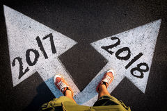 Año Nuevo del concepto del dilema Foto de archivo