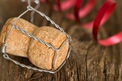 Año Nuevo del corcho de Champán Imágenes de archivo libres de regalías