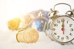 Año Nuevo 2 del corcho de Champán del Año Nuevo Foto de archivo libre de regalías