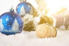 Año Nuevo 2 del corcho de Champán del Año Nuevo Imágenes de archivo libres de regalías