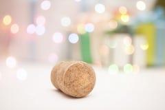 Año Nuevo 2015 del corcho del champán de Nochevieja Fotos de archivo libres de regalías