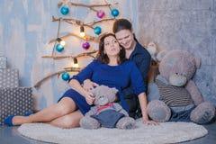 Año Nuevo del embarazo Imágenes de archivo libres de regalías