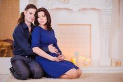 Año Nuevo del embarazo Imagen de archivo