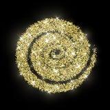 Año Nuevo del extracto de oro del vector del círculo del brillo del oro Imagenes de archivo