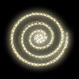 Año Nuevo del extracto de oro del vector del círculo del brillo del oro Fotografía de archivo