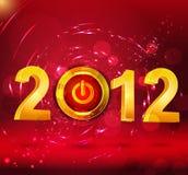 Año Nuevo del fondo abstracto, con un botón Imágenes de archivo libres de regalías