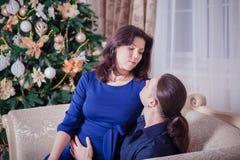Año Nuevo del hombre y de la mujer Foto de archivo libre de regalías