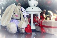 Año Nuevo del juguete suave de la linterna Imagen de archivo libre de regalías