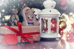 Año Nuevo del juguete suave de la linterna Foto de archivo