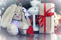 Año Nuevo del juguete suave de la linterna Fotos de archivo libres de regalías
