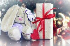 Año Nuevo del juguete suave de la linterna Fotos de archivo